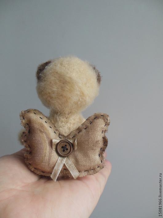 Игрушки животные, ручной работы. Ярмарка Мастеров - ручная работа. Купить Мишка вязаный Мой милый ангел. Handmade. Бежевый