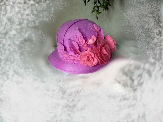 """Шляпы ручной работы. Ярмарка Мастеров - ручная работа. Купить Летняя дамская шляпка """"Розы"""". Handmade. Бледно-сиреневый"""