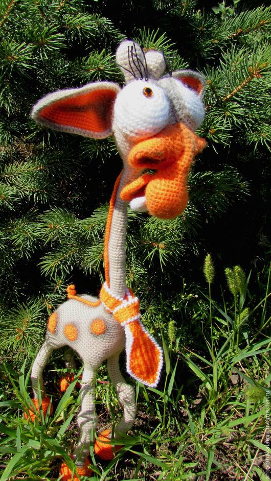 Игрушки животные, ручной работы. Ярмарка Мастеров - ручная работа. Купить жираф Вениамин. Handmade. Комбинированный, животные вязаные, пастель