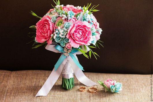 Необычный букет, букет из японской глины, букет из японской полимерной глины, букет ручной работы из глины, букет невесты, свадебный букет, букет 2016, букет от цветочного кутюрье Анны Горбуновой