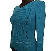 Одежда ручной работы. Ярмарка Мастеров - ручная работа пуловер цвета морской волны. Handmade.