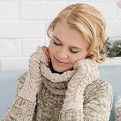 Аксессуары handmade. Livemaster - original item Crochet set: mittens and Snood in