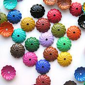 Материалы для творчества handmade. Livemaster - original item Bead caps brass colored. Handmade.