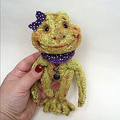 Куклы и игрушки ручной работы. Ярмарка Мастеров - ручная работа Лягушонка Дуняша. Handmade.