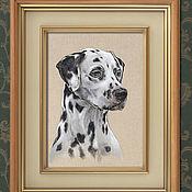 """Картины и панно ручной работы. Ярмарка Мастеров - ручная работа """"Далматин"""" - портрет на заказ. Handmade."""