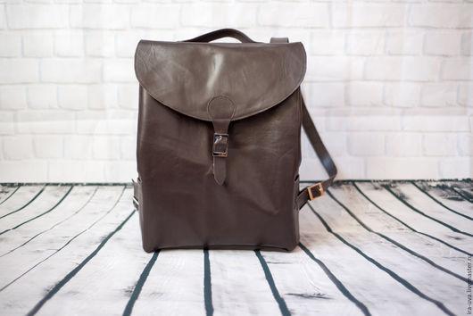 """Рюкзаки ручной работы. Ярмарка Мастеров - ручная работа. Купить Кожаный рюкзак """"Питер"""". Handmade. Коричневый, рюкзак кожаный"""