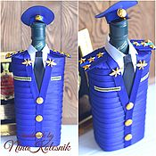 Сувениры и подарки handmade. Livemaster - original item A gift to the captain in the air force Case on the bottle. A gift to the pilot. Handmade.