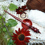 Материалы для творчества handmade. Livemaster - original item Spindle for spinning with a base of Siberian Cedar Wood #B26. Handmade.