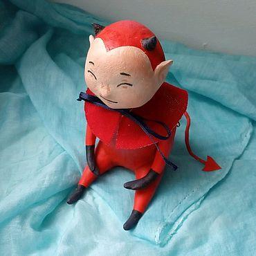 Куклы и игрушки ручной работы. Ярмарка Мастеров - ручная работа Дьяволенок. Handmade.