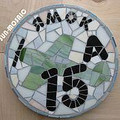 """Для дома и интерьера ручной работы. Ярмарка Мастеров - ручная работа Номер дома """"Авиатор"""" - мозаика из стекла. Handmade."""