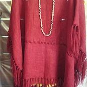 Одежда handmade. Livemaster - original item linen poncho. Handmade.