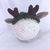 Работы для детей, ручной работы. Ярмарка Мастеров - ручная работа Повязочка оленёнок. Handmade.