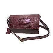 Сумки и аксессуары handmade. Livemaster - original item Women`s leather bag Burgundy Lin. Handmade.