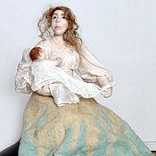 "Куклы и игрушки ручной работы. Ярмарка Мастеров - ручная работа Валяная кукла ""Мадонна с младенцем"". Handmade."