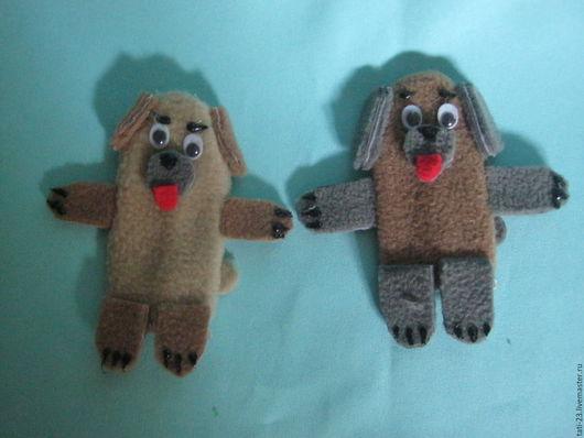 Кукольный театр ручной работы. Ярмарка Мастеров - ручная работа. Купить Собачка. Пальчиковая кукла.. Handmade. Комбинированный, пальчиковая кукла
