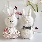 Куклы и игрушки handmade. Livemaster - original item Bunnies the Bride and Groom. Handmade.