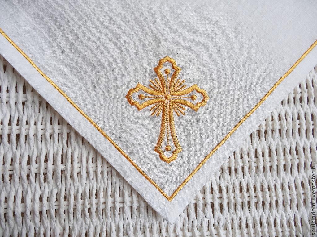 Крест машинная вышивка