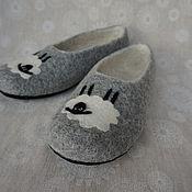 Обувь ручной работы. Ярмарка Мастеров - ручная работа Тапочки валяные   Овечки (39разм). Handmade.