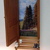 """Для дома и интерьера ручной работы. Ярмарка Мастеров - ручная работа """"Дверь к счастью! Волшебный бор.""""  -  ключница панно. Handmade."""