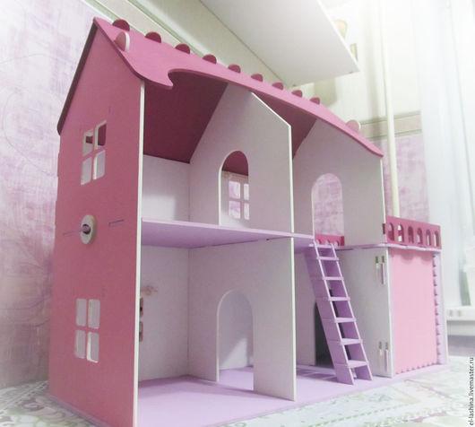 """Кукольный дом ручной работы. Ярмарка Мастеров - ручная работа. Купить кукольный дом """"Анютка"""". Handmade. Белый, заготовки для декупажа"""