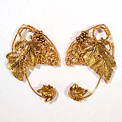 "Украшения handmade. Livemaster - original item Elven ears - earcuffs ""Golden grape"". Handmade."