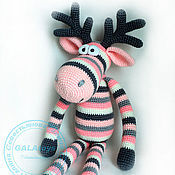 Куклы и игрушки ручной работы. Ярмарка Мастеров - ручная работа Вязаная игрушка. Розово-серый Лось.. Handmade.