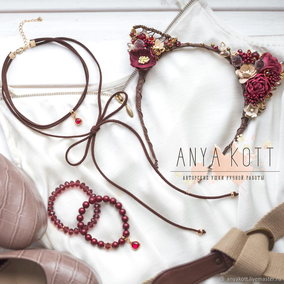 Set headband cat ears, a choker and a set of two bracelets – shop ...