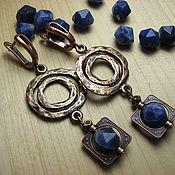 Украшения handmade. Livemaster - original item Earrings sodalite and copper