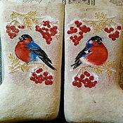 """Обувь ручной работы. Ярмарка Мастеров - ручная работа Валенки """"Красногрудые"""". Handmade."""