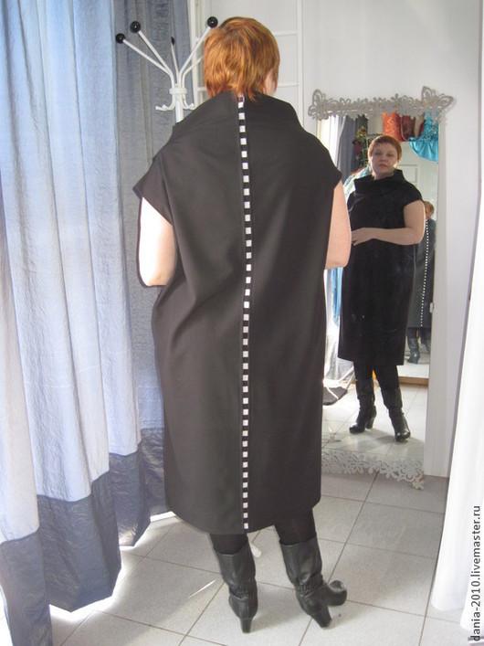 """Большие размеры ручной работы. Ярмарка Мастеров - ручная работа. Купить офисное платье """"АВТОРСКОЕ"""". Handmade. Черный, офисный стиль"""