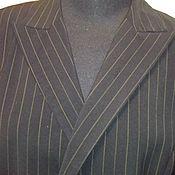 Винтаж handmade. Livemaster - original item Jacket double breasted striped. Handmade.