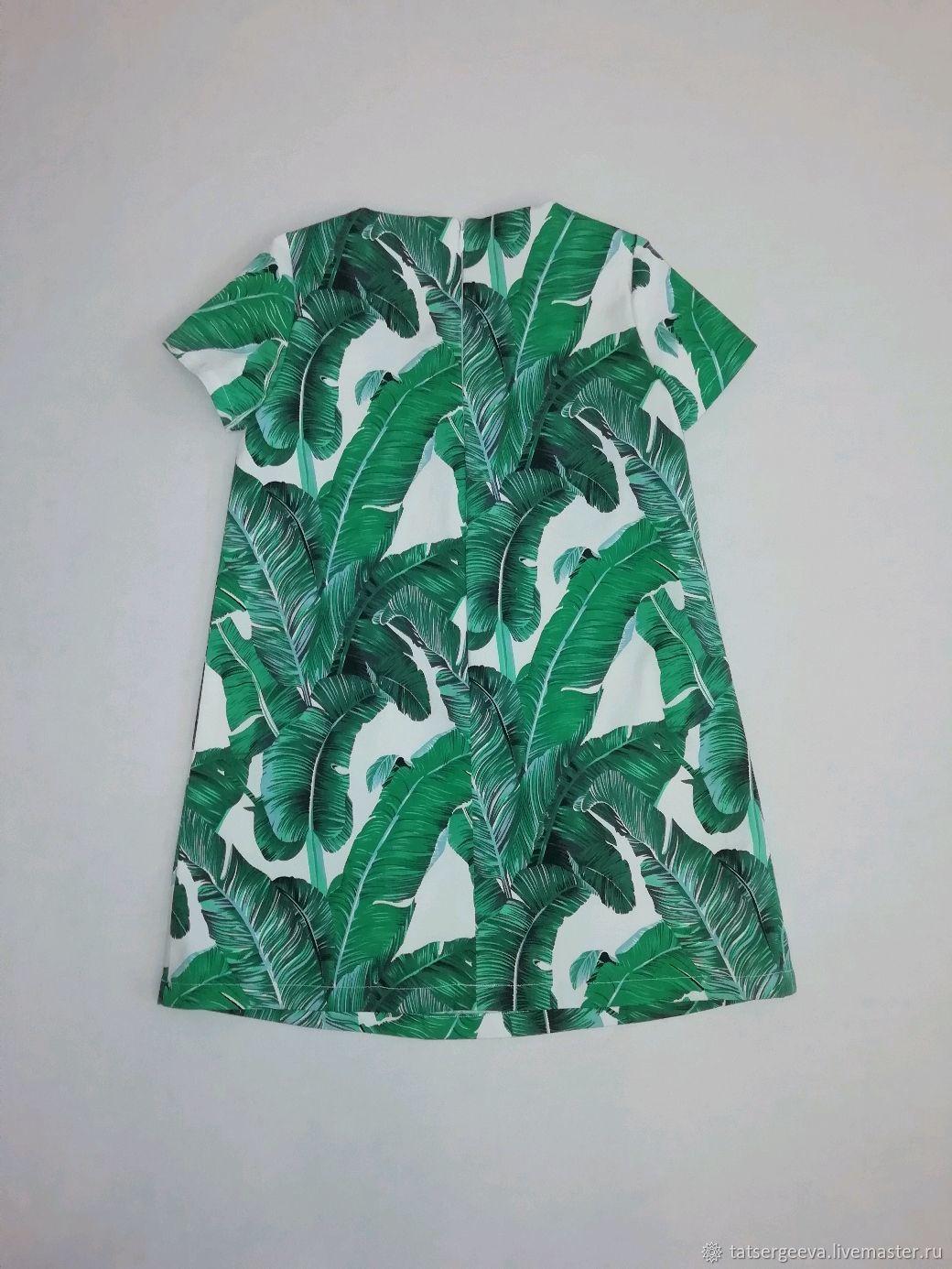 Детское платье Листья