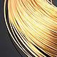 Для украшений ручной работы. Ярмарка Мастеров - ручная работа. Купить Проволока 0.5 мм Позолоченная латунь Южная Корея (2 метра). Handmade.