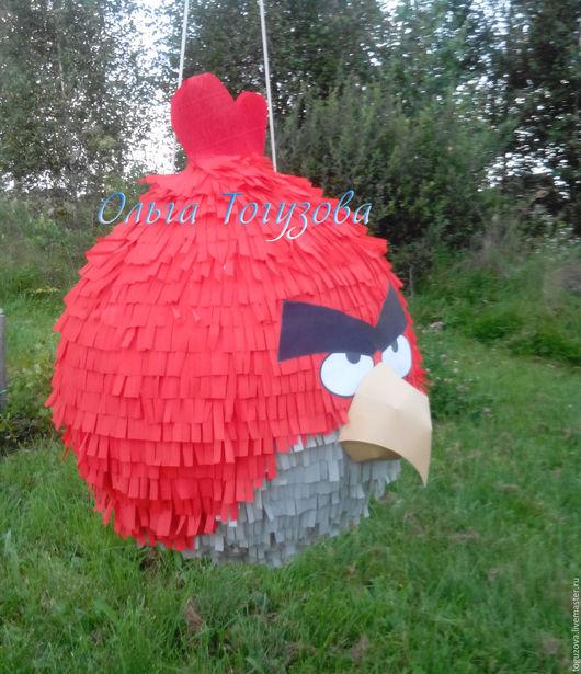 Персональные подарки ручной работы. Ярмарка Мастеров - ручная работа. Купить Пиньята Angry Birds. Red. Handmade. Ярко-красный
