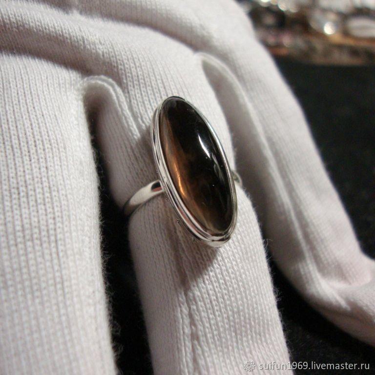Кольца ручной работы. Ярмарка Мастеров - ручная работа. Купить Серебряное кольцо с раухтопазом 5. Handmade. Подарок, ювелирное украшение