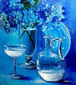 """Картины и панно ручной работы. Ярмарка Мастеров - ручная работа """"Синий натюрморт"""". Handmade."""
