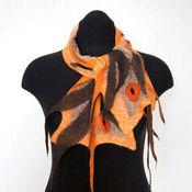 Аксессуары ручной работы. Ярмарка Мастеров - ручная работа Для ненастной погоды Нуно-войлочный шарфик. Handmade.
