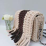 Сумка через плечо ручной работы. Ярмарка Мастеров - ручная работа Вязанная сумка кросбоди. Handmade.