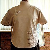 Одежда ручной работы. Ярмарка Мастеров - ручная работа Блуза льняная с ручной вышивкой. Handmade.