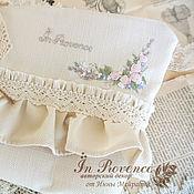 Сумки и аксессуары handmade. Livemaster - original item Cosmetic bag in vintage style with hand embroidery linen. Handmade.