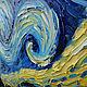 Репродукции ручной работы. Заказать Картина маслом по мотиву Винсент Ван Гог  Звёздная ночь. Ксения Дубинина (Жукова). Ярмарка Мастеров.