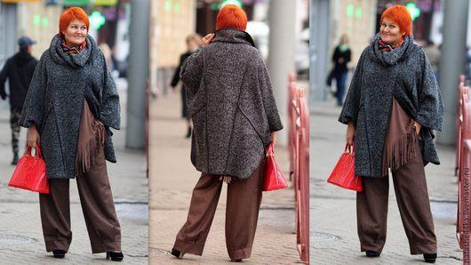 Верхняя одежда ручной работы. Ярмарка Мастеров - ручная работа. Купить Пальто пончо. Handmade. Пальто, шерсть