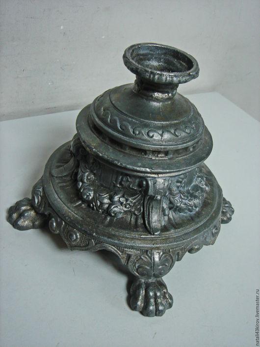 Реставрация. Ярмарка Мастеров - ручная работа. Купить Основание от старинной лампы или вазы. Шпиатр.. Handmade. Темно-серый, шпиатр