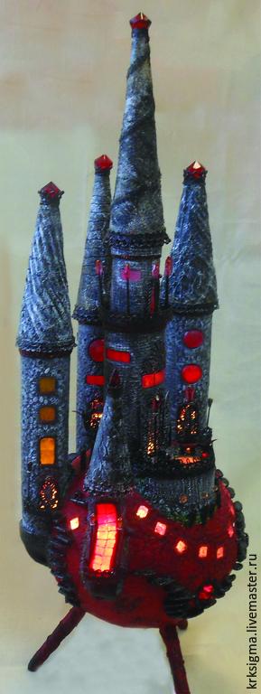 """Освещение ручной работы. Ярмарка Мастеров - ручная работа. Купить Замок-светильник """"Страсть"""". Handmade. Замок, светильник"""