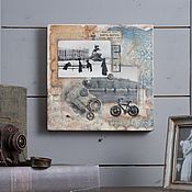 Картины и панно handmade. Livemaster - original item Painting Vintage Petersburg, encaustic. Handmade.