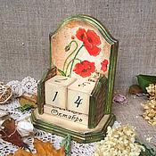 """Канцелярские товары ручной работы. Ярмарка Мастеров - ручная работа Вечный календарь, """" Маковая дымка """". Handmade."""