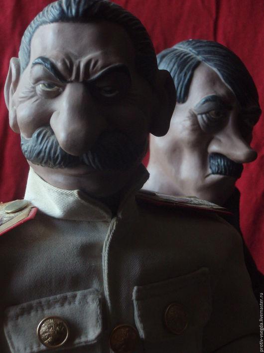 Коллекционные куклы ручной работы. Ярмарка Мастеров - ручная работа. Купить Сталин. Handmade. Ярко-красный, вождь, портретная кукла