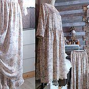 Одежда ручной работы. Ярмарка Мастеров - ручная работа БОХО - Платье уютное 04 БЕЖ. Handmade.