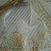 Антикварный воротничок, сутажная вышивка