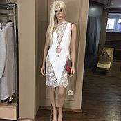 Одежда handmade. Livemaster - original item Sexy Dress of white silk with lace. Handmade.